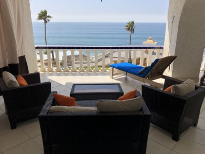 Photo for ROSARITO BEACH FRONT 2 bedroom 2 full baths 180 degrees of OCEAN FRONT VIEW!