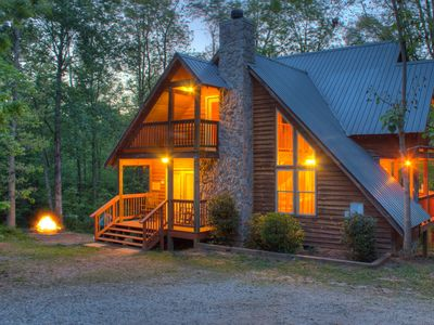 Photo for Private, Deluxe 3 BR Custom Cabin near Helen GA!