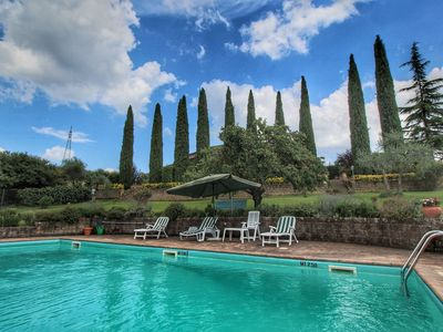 Photo for Special villa with private swimming pool, beautiful view, near borgo Ficulle