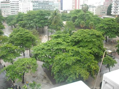 Photo for Ipanema large apt with 2 bedrooms with sea view, one block from the beach