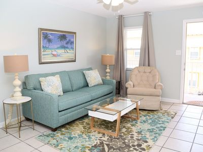 NEWLY REMODELED, New mattresses, Sunrise Village 212 ~ Renovated, Bright Colors, Steps to the beach!