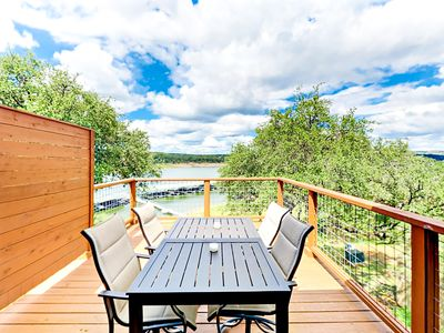 Deck - Take in sunshine and the view on the private deck, with a table and seating for 4.