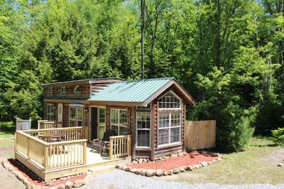Log Cabin Tiny Home Vacation Rental Property