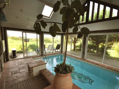 Photo for Nice cottage with swimming pool inside house near deauville very calme