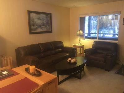 Photo for Cozy, 1 bedroom Condo, 2 Blocks from Downtown, on Ski Bus Route