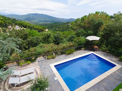 Photo for Club Villamar - Modern villa Julia with private pool and amazing panoramic view on green hills an...