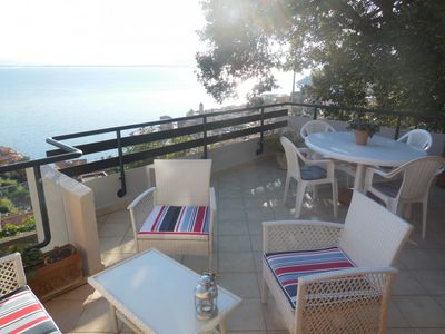 Photo for Villa with breathtaking view over the sea, WIFI, A/C, garden, parking, 4 terraces