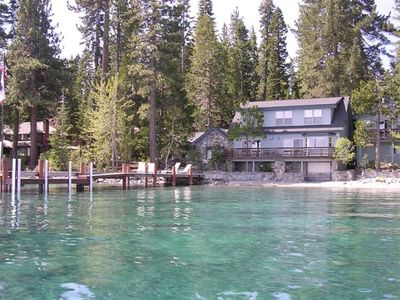 Photo for May Ah Mee Lodge: Old Tahoe Lakefront Plus New Comfort!