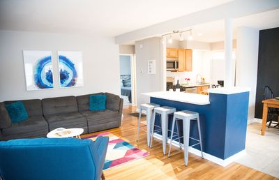 Open-concept front area makes for great conversation and plenty of space to rest