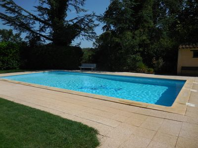 Photo for Provençal stone cottage near Uzes, swimming pool