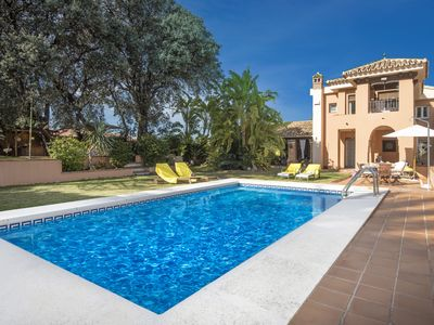 Photo for Luxurious Andalusian villa with private pool and garden just 20 minutes from the