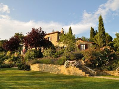 Photo for Private Villa with private pool, A/C, WIFI, TV, terrace, panoramic view, parking, close to Cortona