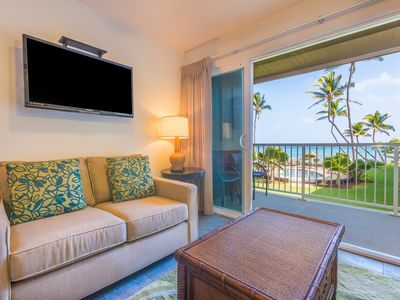 Photo for 2 Bedroom Ocean View Kapaa Condo with Pool (208-2)