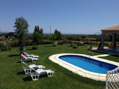 Photo for Villa with private pool, large lawn, all with sea view.