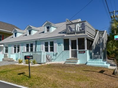 Photo for JUNE SPECIAL!! Pet friendly (2 dog max).  Motorcycles allowed.  6 bedroom, 2 bath house with ocean views, walking distance to ocean.  Sleeps 14.
