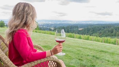 Enjoy your wine on the patio!