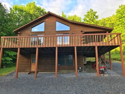 Photo for ADK Log Cabin - For The Nature & Wine Lover. Close to LRH Winery, LG & Saratoga.