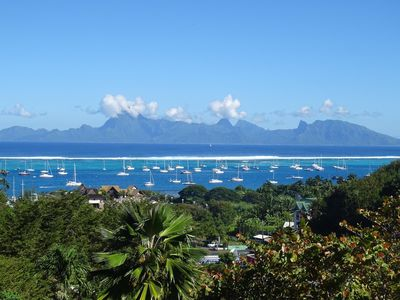 Photo for Tehau studio - panoramic view of Moorea - Punaauia - Tahiti - 2 people