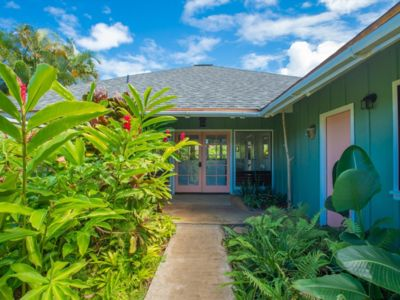 Photo for Welcome to our North Shore Jungalow! Bright & Open Princeville Vacation Home