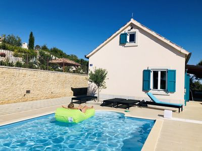 Photo for Stylish holiday home with pool in a dream location, parking at the house