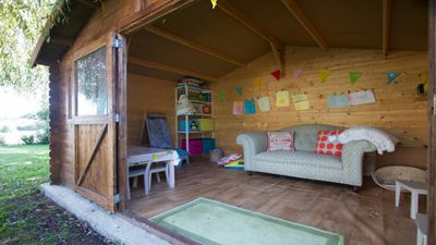 a lovely cabin for the little ones to drw and read and relax