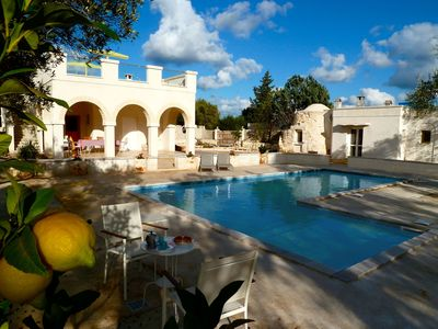 Photo for Beautiful Character Villa and Trullo in Ostuni Olive Grove with Private Pool