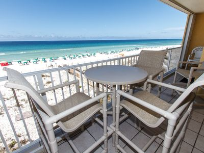 Photo for Gulf Dunes 401: RESERVED PARKING, RIGHT ON BEACH, FREE BEACH SERVICE