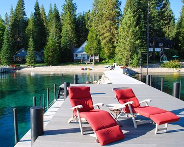 Photo for Beautiful, Private Tahoe Lakefront Home with Large Pier, Bouy's and Sandy Beach
