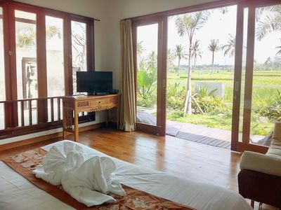 Photo for Tranquil breezy rice field villa w/private pool