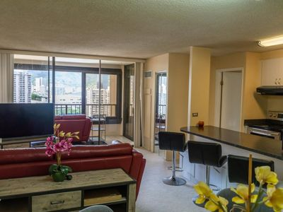 Photo for Spectacular Mountain and City Views in a Great Waikiki Location!
