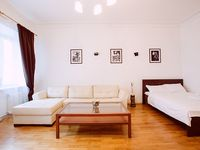 The apartment is large and pretty clean. The location is excellent - a short walk to Arbatskaya, the