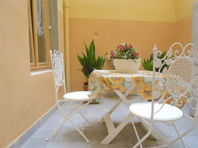Photo for IN OLD FLORENCE CENTER DELIGHTFUL APARTMENT WITH PRIVATE COURTYARD, INTERNET WI