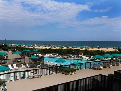 Photo for G211: Renovated 2BR+den Sea Colony Oceanfront Condo! Beach, pools, tennis ...