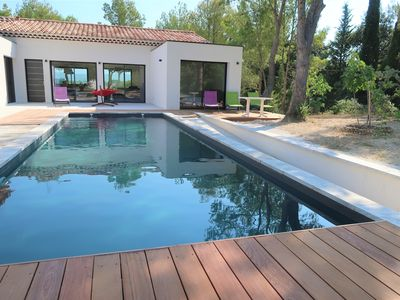 Photo for Fabulous view Ventoux, Mazanel design house, air conditioning, private pool