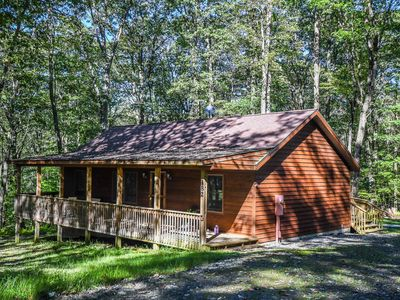 Photo for Hidden Haven - Cozy cabin tucked in the trees just minutes from activities!