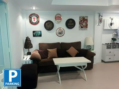 Photo for Central location. parking. Wifi. Three minutes from Plaza Pilar. Ideal families