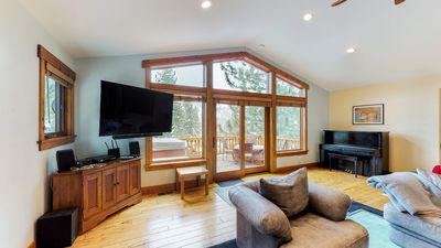 Photo for NEW LISTING! Spacious home w/ private hot tub - close to skiing, hiking & biking