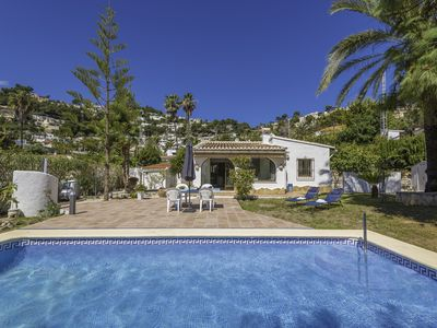 Photo for BENIALI, Villa for 6 guests with private pool in Moraira, free wifi