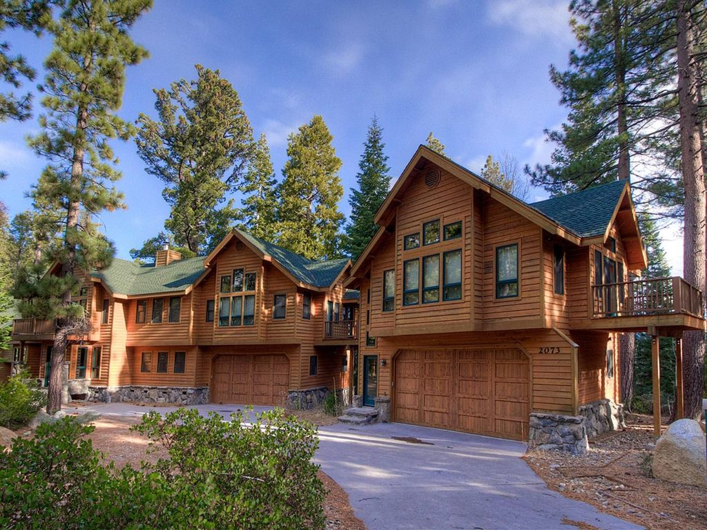 Huge 5700 sqft 5 br luxury cabin lake homeaway south for South lake tahoe cabins to rent