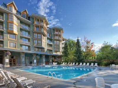 Photo for Whistler Village Cascade Lodge Resort, Walk or Shuttle to lifts Year round Pool!