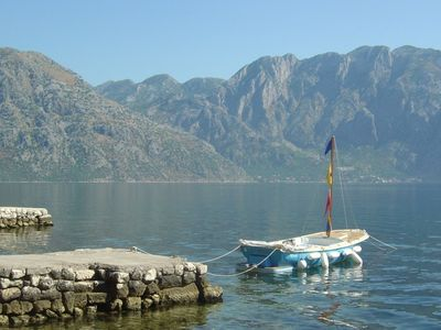 Photo for Kotor waterfront Villa for 6-14 Perfect family holiday Villa with swimming jetty
