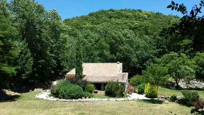 Photo for House with covered terrace 40m2, in the peace of the valley of La Baume, for 6.