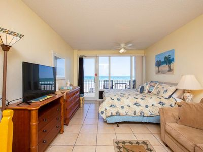 Photo for 1st Floor Accessible Unit w/ OceanFront 2nd Floor Privt Balcony, King Bed, FREE WIFI-Great Location!