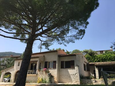 Photo for Villa TOURRETTES sur Loup with pool and sea view