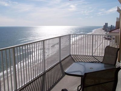 Afternoon Sun on Beach Front Balcony-entrance off living area and master bedroom