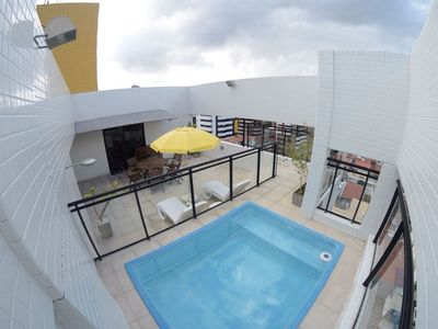 Photo for Penthouse with swimming pool and barbecue in the green tip 2/4 being 1 suite