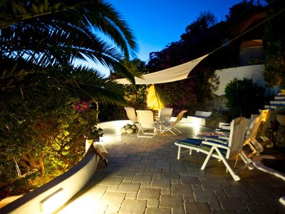 Photo for Villa in natural rock with immense garden in the heart of the island of Ponza