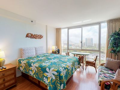 Photo for Ocean view studio in Waikiki w/ shared pool & WiFi - close to everything!