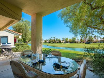 Photo for Water & Mountain Views! Upgraded Kitchen, Outdoor Grill & Golf Cart-Home in PGA WEST on Shoal Creek