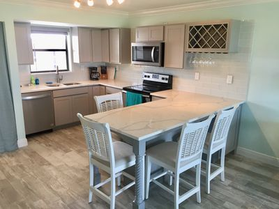 Completely renovated kitchen with quartz countertops